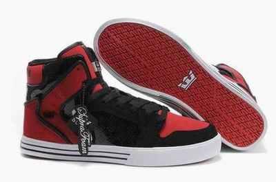 Populaire Supra Muska Skytop Noir Rouge,supra shoes femme,chaussures supra  online,Retour gratuit en magasin